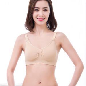 新贝哺乳文胸孕妇月子内衣胸罩怀孕期聚拢防下垂无钢圈喂奶文胸(M)肉色 8865-2 *2件 79元(合39.5元/件)