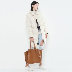网易考拉 ALICEDUDU 女士中长款保暖加厚纯色大衣 再送围巾  99元包邮