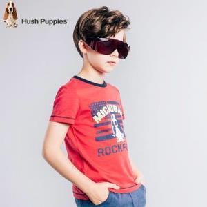 暇步士童装男童新款夏装大童短袖圆领衫儿童半袖时尚T恤 50.04元