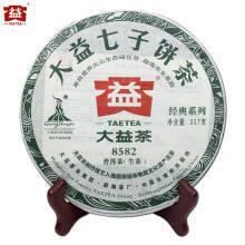大益普洱茶 生茶 8582青饼  357g/饼  随机批次 2010年8582   一饼装 99元