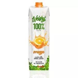 葡萄牙进口 维亿鲜(weishy)100%果汁 橙汁饮料 1L*4支 28元