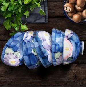 美浓烧(Mino Yaki) 美浓烧山茶系列手绘饭碗121元