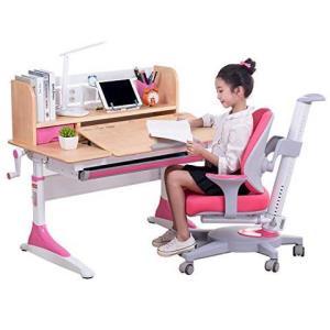 心家宜 真实木手摇升降 儿童成长桌椅套装 100 * 60cm M174+M224R+M_026(双靠背+带扶手) 公主粉 2499元