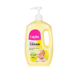 Carefor 爱护 婴儿洗发沐浴露二合一 1L *2件  39.9元(合19.95元/件)