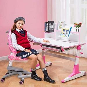 生活诚品 儿童书桌 学习桌 儿童书桌椅套装ME353+ZY3302粉色 1995元
