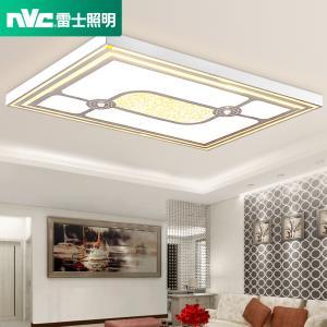 雷士照明薄客厅灯长方形水晶灯现代简约灯具大气led奢华吸顶灯  699元