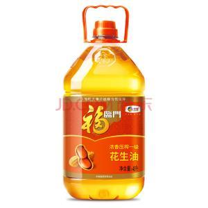 福临门 食用油 浓香压榨一级 花生油4L 中粮出品 ¥64.8