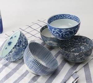 MINOYAKI 美浓烧 青花手绘系列 餐具 5件套155元