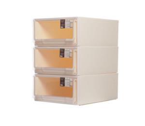 禧天龙Citylong 单层中号抽屉式透明收纳柜环保塑料储物柜可叠加组合收纳箱 比格5115 *2件188元(合94元/件)