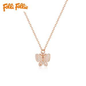 Folli Follie芙丽芙丽女士项链锁骨链蝴蝶造型玫瑰金3N17S058RC