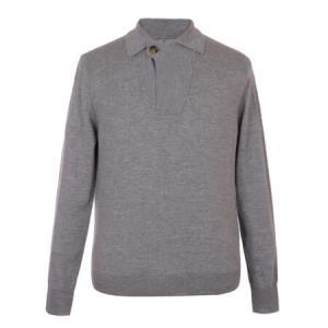 CANALI 康纳利 男士灰色羊毛长袖针织衫 C0621 MK00609 202 50码2519元