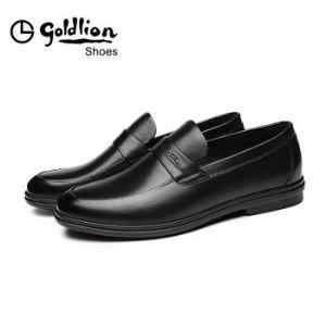 金利来(goldlion)男士商务休闲正装皮鞋舒适轻质透气时尚503830137ALB-黑色-42码389元
