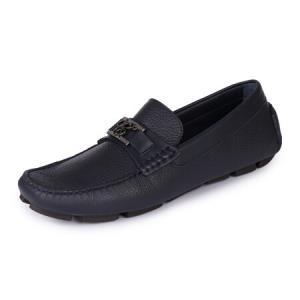 CANALI 康纳利 男士深蓝色皮革平底休闲皮鞋 361735 RA00218 310 8/42码3227.2元
