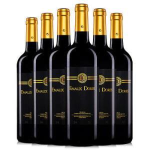 法国进口红酒 埃莫多斯红葡萄酒750ml *6瓶99元
