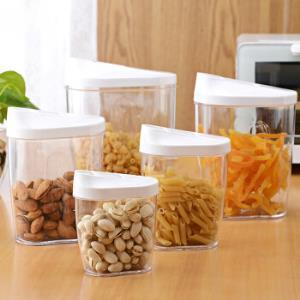 乐荔 密封罐 五谷杂粮收纳罐厨房储物罐米桶零食收纳盒 超值五个装 *5件99.5元(合19.9元/件)