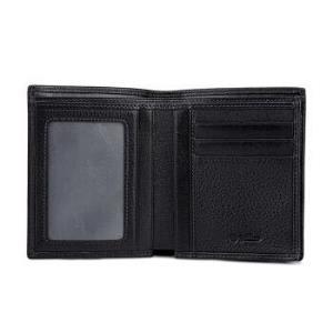 金利来(Goldlion)新款男士钱包牛皮简约男士票夹商务钱夹 竖款 黑A721001-311135.2元