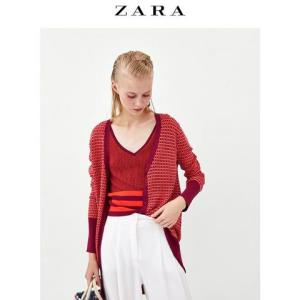ZARA 01822106330 女装双色开衫