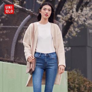 UNIQLO 优衣库 408761 女士摇粒绒长外套