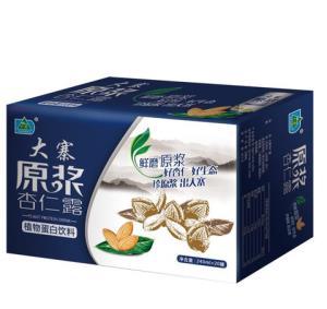 大寨(DAZHAI)原浆杏仁露 植物蛋白饮料 240ml*20罐 整箱装30.9元