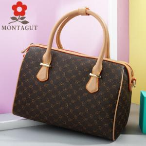 梦特娇 MONTAGUT 女包手提包时尚单肩斜跨包大容量波士顿包 R2212606141  啡色404.6元