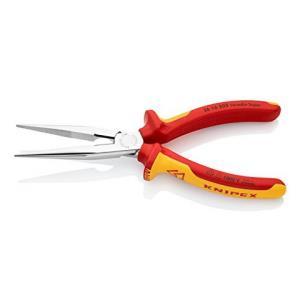 Knipex 凯尼派克 26 16 200 绝缘尖嘴钳 长半圆嘴 八寸 镀铬143元
