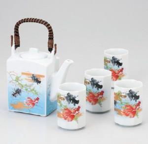 日本的心系列四角壶茶具套装美浓烧159.89元