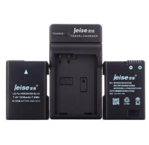 雷摄LEISE EN-EL14电池+充电器套装 适用尼康 D3200 D3300  D5200 D5300 D550099元
