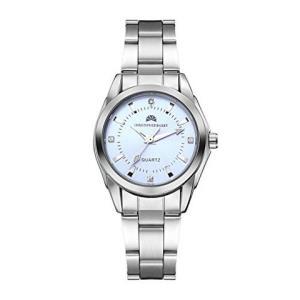 中亚Prime会员:珂芮柏蒂 英国品牌 伊丽莎白系列时尚气质淡蓝色表盘钢带石英女士手表124.2元