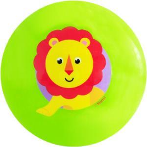 费雪Fisher-Price 充气玩具球 宝宝手抓摇铃球婴幼儿童小皮球卡通拍拍球10cm 绿色狮子F0929 *2件19.5元(合9.75元/件)