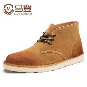 马登 男加厚反绒皮沙漠靴 98元包邮