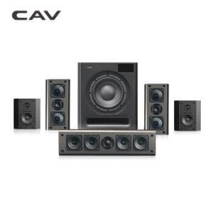 CAV S58 家庭影院 5.1音响 无线环绕 蓝牙连接 独立低音炮 音响 音箱 全木质箱体 黑色3680元