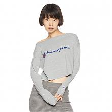 性感露肩、露脐装:Champion 冠军 女款 长袖短T恤CW-NS413Prime会员凑单直邮到手100元