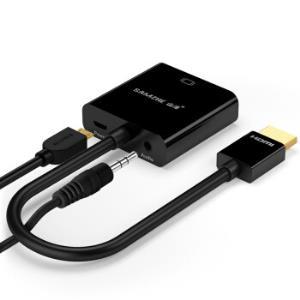 SAMZHE 山泽 ZH-22 HDMI转VGA线转换器 带音频供电接口28.5元