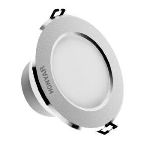 鸿雁(HONYAR) LED筒灯2.5寸砂银3W暖光北斗系列开孔75mm *15件168.5元(合11.23元/件)