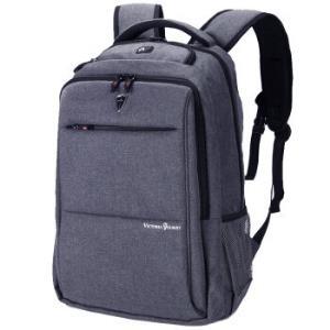 维多利亚旅行者 VICTORIATOURIST 双肩包电脑包15.6英寸 男女商务防水双肩背包V9006灰色 *2件148.4元(合74.2元/件)