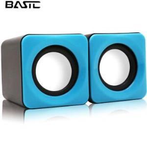 本手(BASIC)F0音箱2.0声道迷你便携USB台式笔记本手机电脑音响 蓝色16.5元