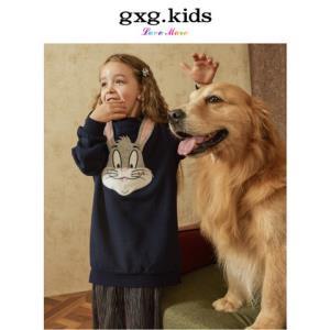 gxg.kids童装19春装新款女童纯棉舒适休闲可爱兔子连衣裙宝宝裙子139元包邮