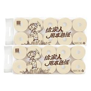 泉林本色 卷纸空心纸筒卫生纸环保装3层288节×10卷×2提 共20卷(亚马逊自营商品, 由供应商配送)52.9元