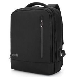 金利来(Goldlion)双肩包商务电脑包13英寸时尚休闲多功能充电背包旅行包男款书包 MB6582090-1391 黑329元