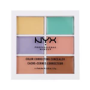 NYX 六色高光修容遮瑕盘 8.5g 肤色系遮瑕修容盘 粉底/遮瑕 各种肤质通用109元包邮