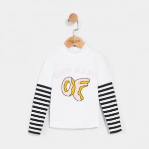 14日10点:gxg.kids 童装冬季新款拼色假两件女童长袖T恤45.5元