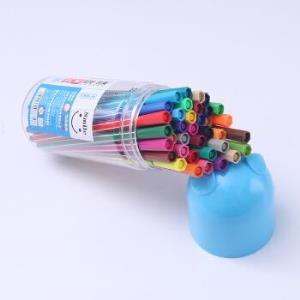 至尚・创美(SCM) V888-12色 SMILE筒装可洗水彩笔 12支/桶 颜色随机 *3件13.86元(合4.62元/件)