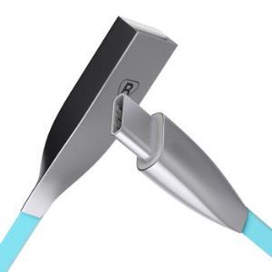 毕亚兹 Type-C数据线 安卓手机快充电器线电源线 锌合金1.2米 K8蓝 华为P20/Mate10/荣耀V8/小米5S615.9元