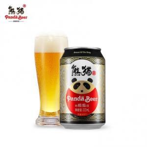 59元24听包邮!国宝级熊猫王 9.5度精酿啤酒 330ml*整箱 优惠券升级至50元(2.46/听)