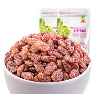 来伊份 蜜饯果干 新疆特产 休闲食品 无籽葡萄干118g/袋(新老包装随机发货)