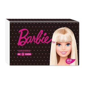 凑单品:芭比(Barbie) 抽纸 经典倍韧系列 三层40抽1包大规格(长幅) 抽取式纸巾 卫生纸 *5件 6元(合1.2元/件)