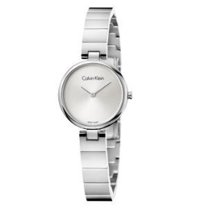 卡文克莱CK手表纯正系列银色表盘银色表带极简时尚女款石英表K8G23146 1296元