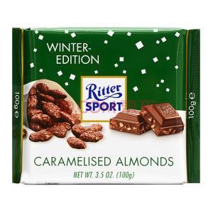 Ritter SPORT 瑞特斯波德 焦糖扁桃仁味 牛奶巧克力 100g ¥9.75