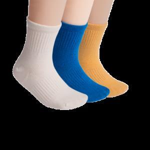 网易严选 CoolMax纯色童袜 3双装 31.5元