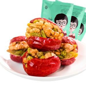 水益农  红枣夹核桃葡萄干500g*3袋 每斤9.9元 *7件209元(合29.86元/件)